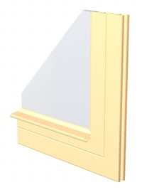 drawing of XIR Model invisible style storm window for historic homes and buildings